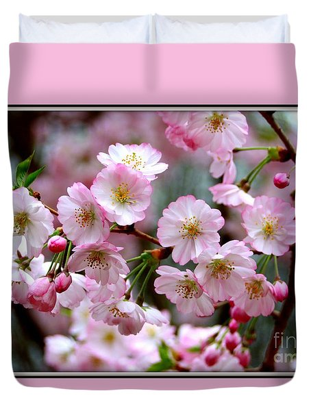The Delicate Cherry Blossoms Duvet Cover
