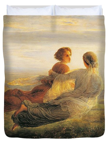 The Departure Of The Soul Duvet Cover by Louis Janmot