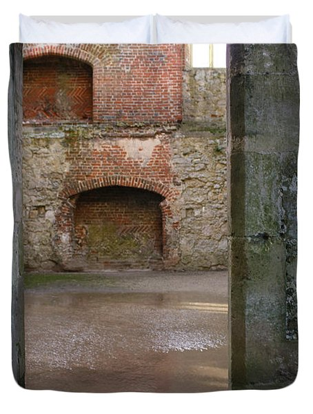 The Derelict Titchfield Abbey Hampshire Duvet Cover by Terri Waters