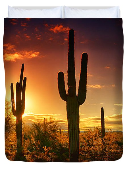 The Desert Awakens  Duvet Cover