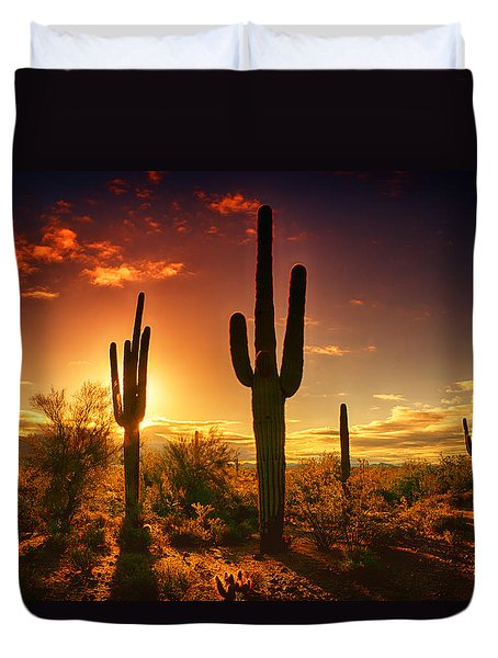 The Desert Awakens  Duvet Cover by Saija  Lehtonen