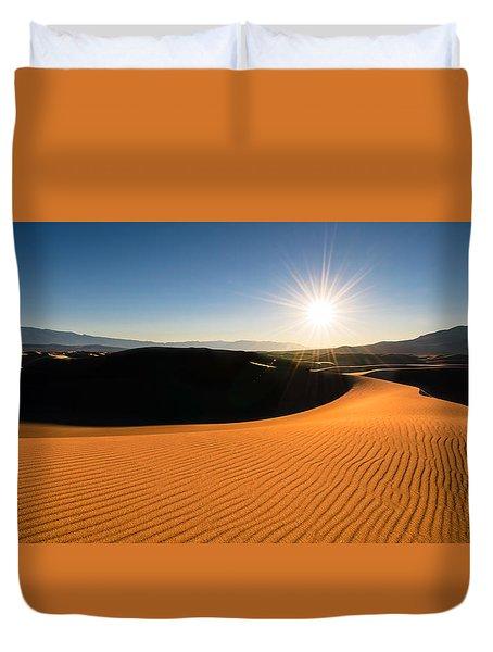 Duvet Cover featuring the photograph The Desert Sun by Dan Mihai