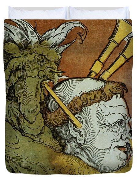 The Devil Duvet Cover by Eduard Schoen