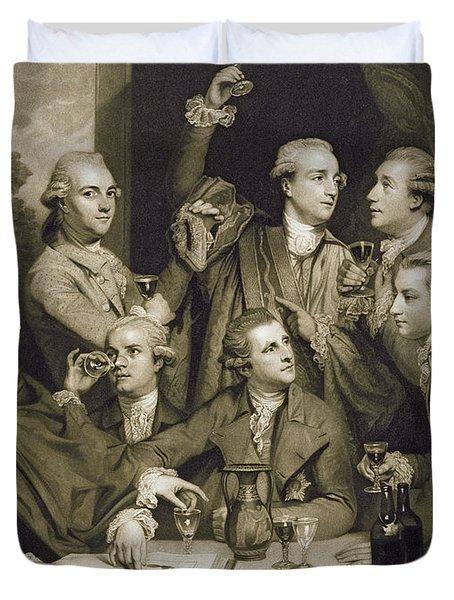 The Dilettanti Society Duvet Cover