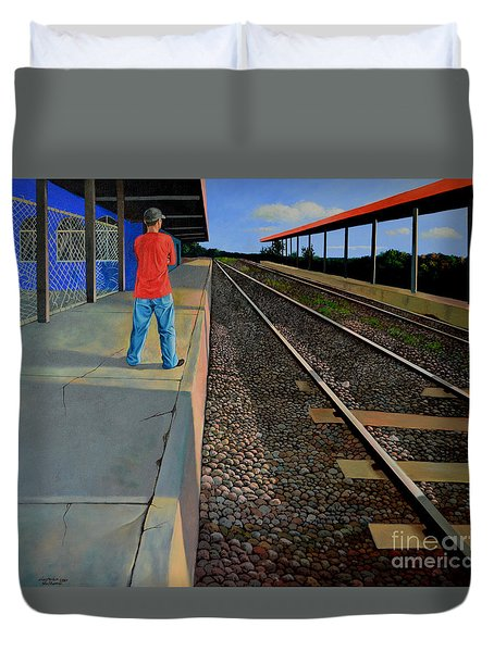 The Distance Of Solitude Duvet Cover