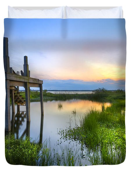 The Dock Duvet Cover by Debra and Dave Vanderlaan