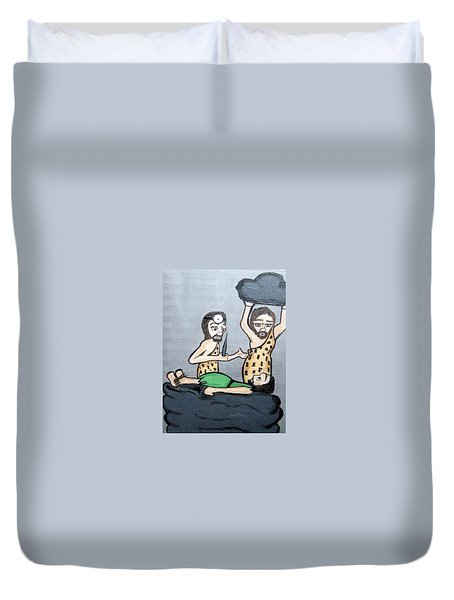 Duvet Cover featuring the painting The Doctors by Nora Shepley
