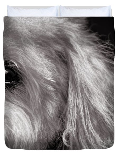The Dog Next Door Duvet Cover