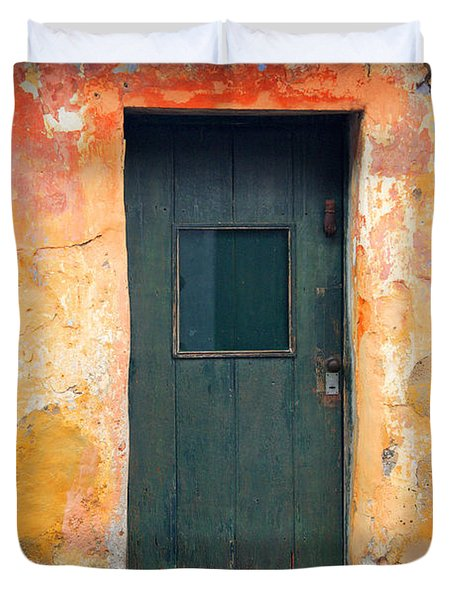 Duvet Cover featuring the photograph The Door by Bernardo Galmarini