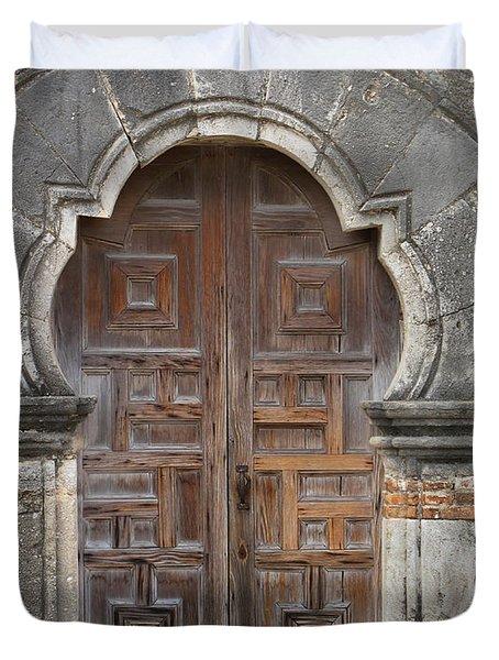 The Door Of Espada Mission  Duvet Cover