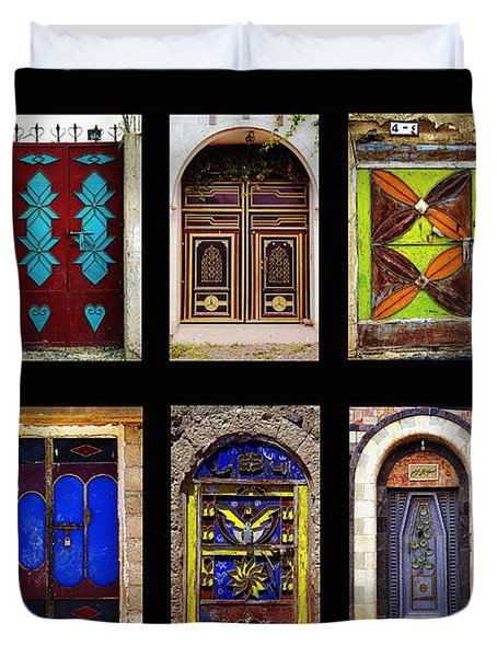 The Doors Of Yemen Duvet Cover