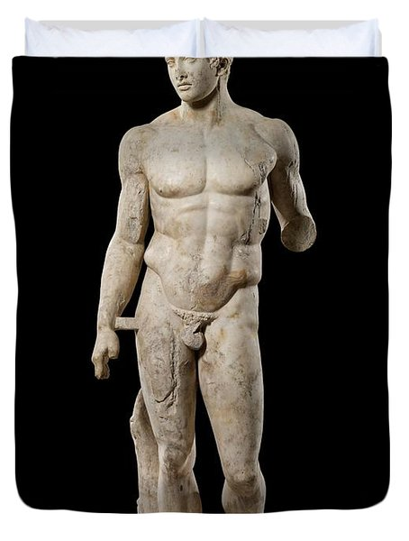 The Doryphoros Of Polykleitos Duvet Cover