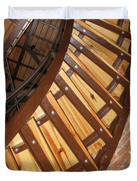 The Downside Of Spiral Stairs Duvet Cover by Ausra Huntington nee Paulauskaite