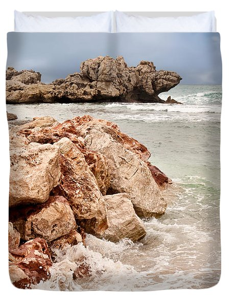 Duvet Cover featuring the photograph The Dragon Of Labadee by Mitchell R Grosky