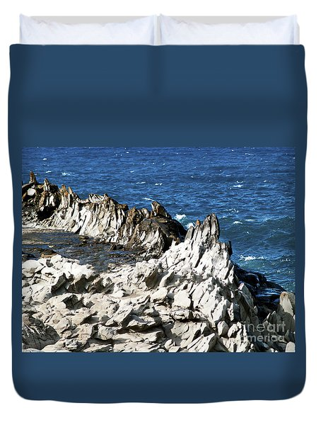 The Dragons Teeth I Duvet Cover by Patricia Griffin Brett