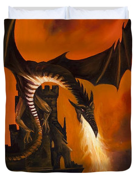The Dragon's Tower Duvet Cover