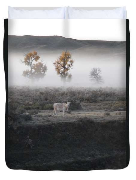 Duvet Cover featuring the photograph The Dream Cow Of Mourning by Brian Boyle