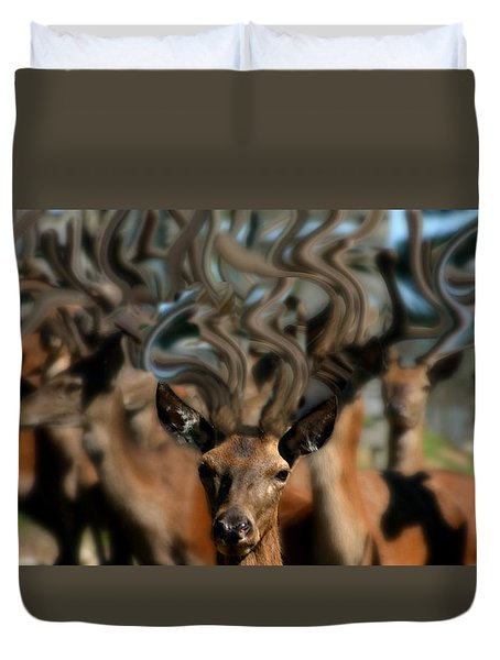 The Dreams Of Deer #2 Duvet Cover