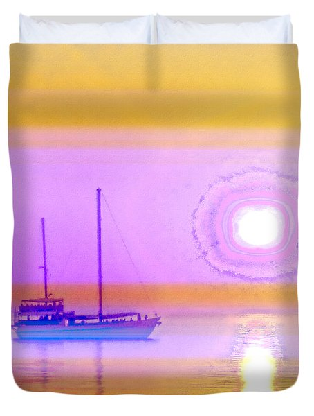 Duvet Cover featuring the photograph The Drifters Dream by Holly Kempe