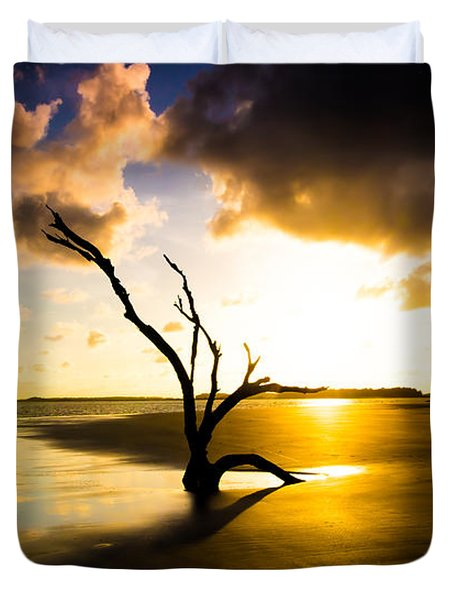The Driftwood Tree Folly Beach Duvet Cover
