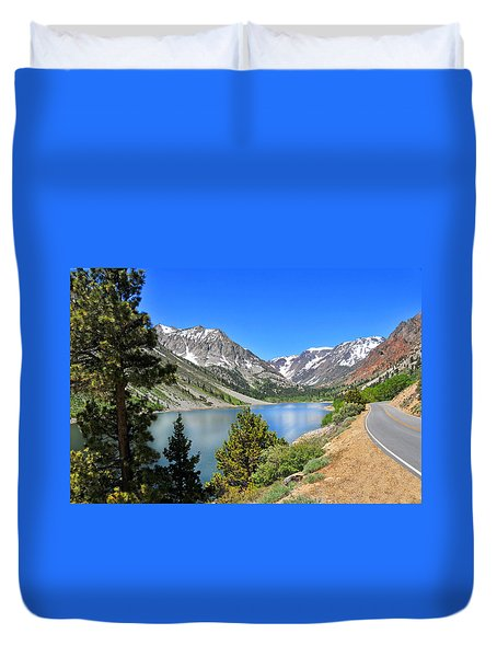 The Drive By Lundy Lake Duvet Cover by Lynn Bauer
