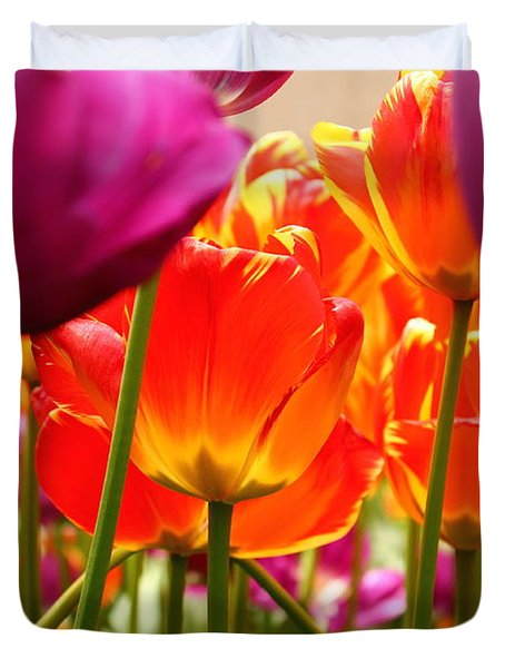 The Drooping Tulip Duvet Cover