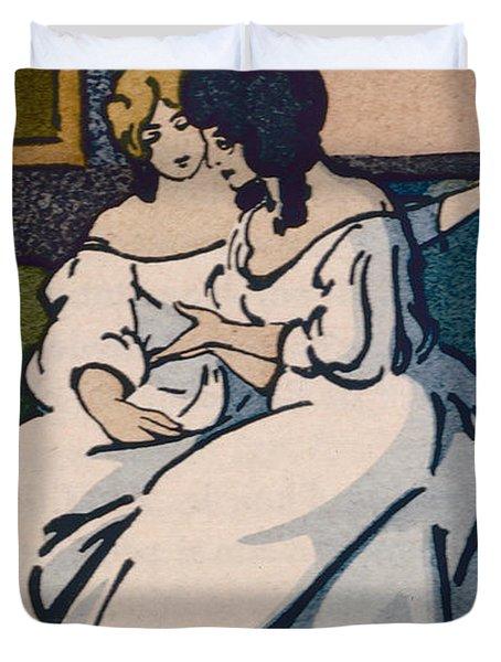 The Duchesse De Langeais Visiting The Vicomtesse De Beauseant Duvet Cover by Quint