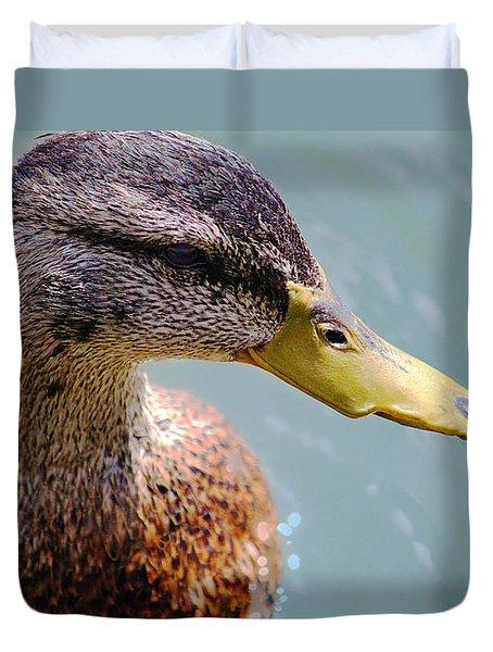 The Duck Duvet Cover by Milena Ilieva