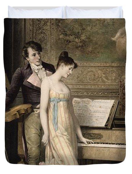 The Duet Duvet Cover by Karl the Elder Schweninger