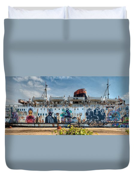 The Duke Of Graffiti Duvet Cover by Adrian Evans