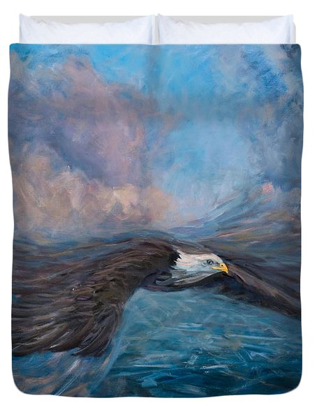 The Dynamic Of Flight Duvet Cover by Marco Busoni