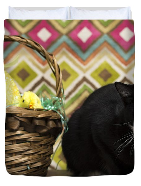 The Easter Tiggy Duvet Cover by Nick Kirby
