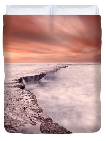 The Edge Of Earth Duvet Cover by Jorge Maia