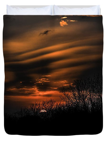 The Edge Of Night Duvet Cover