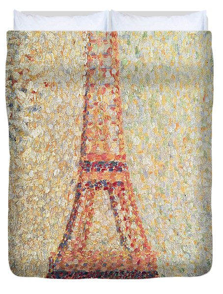 The Eiffel Tower Duvet Cover by Georges Pierre Seurat