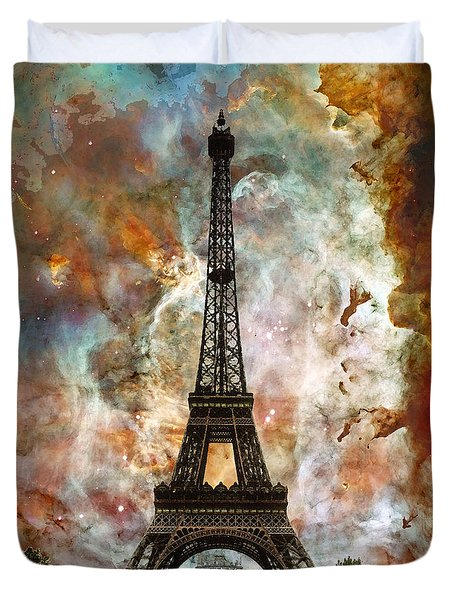 The Eiffel Tower - Paris France Art By Sharon Cummings Duvet Cover