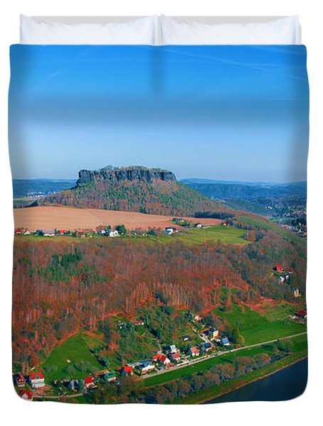 The Elbe Around The Lilienstein Duvet Cover