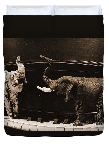 The Elephant Walk Duvet Cover