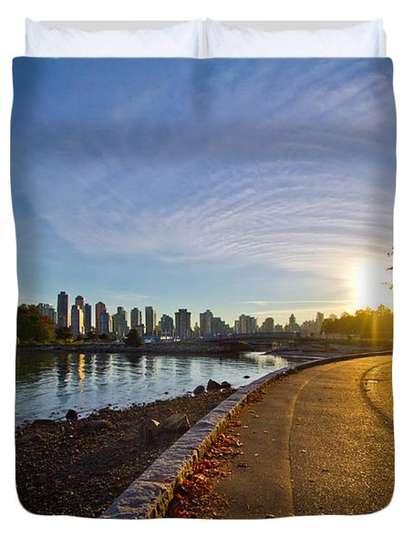 Duvet Cover featuring the photograph The Emerald City by Eti Reid