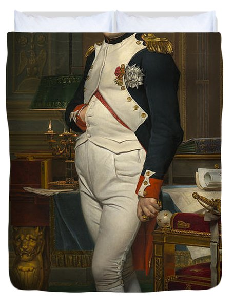 The Emperor Napoleon In His Study Duvet Cover by Mountain Dreams