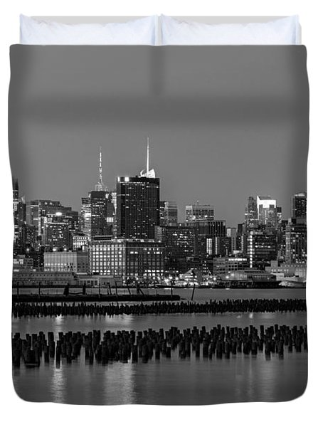 The Empire State Building Pastels II Duvet Cover by Susan Candelario