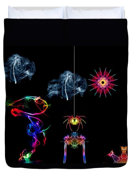 The Enchanted Smoke Spider Duvet Cover by Steve Purnell