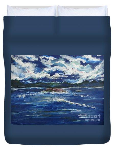 The Enchanting Sea  Duvet Cover by Lori  Lovetere