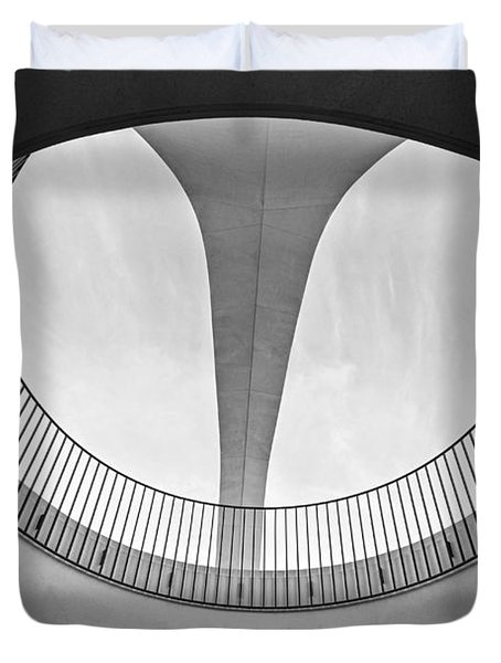 The Encounter Restaurant At Lax From Below Los Angeles International Airport. Duvet Cover