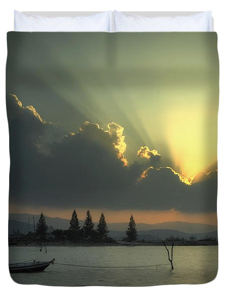 The End Of The Day Duvet Cover