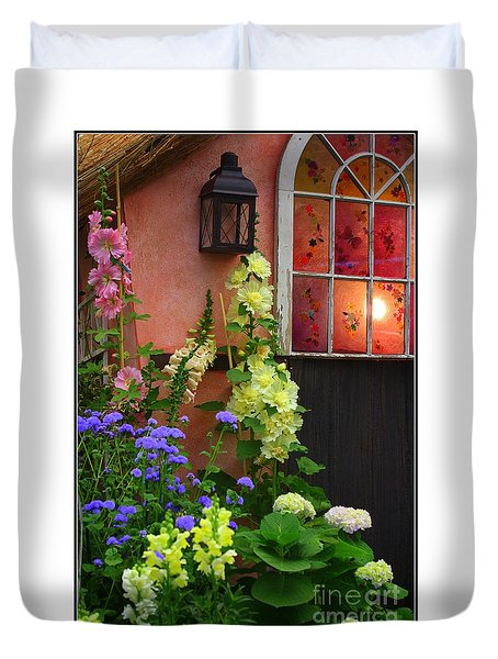 The English Cottage Window Duvet Cover by Dora Sofia Caputo Photographic Art and Design