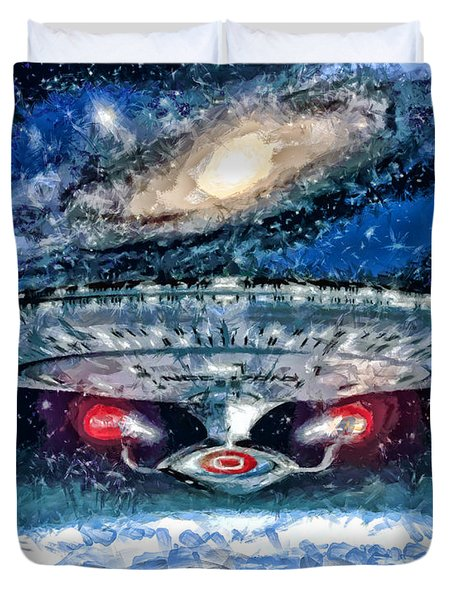 The Enterprise Duvet Cover by Joe Misrasi