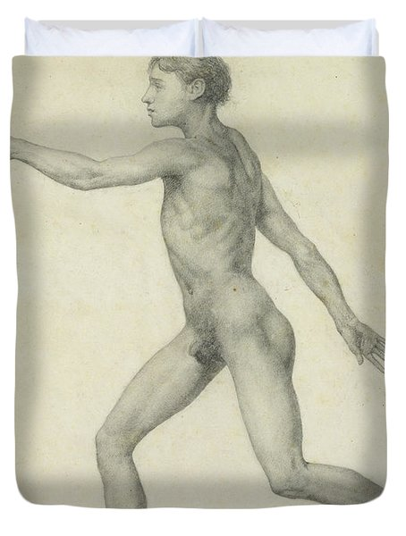 The Entire Human Figure From The Left Lateral View Duvet Cover by George Stubbs