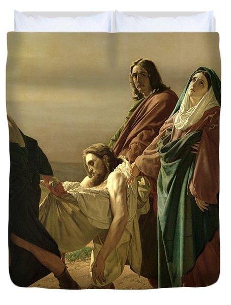 The Entombment, 1883 Duvet Cover