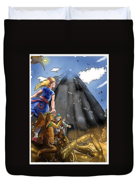 Duvet Cover featuring the painting The Entrance by Reynold Jay